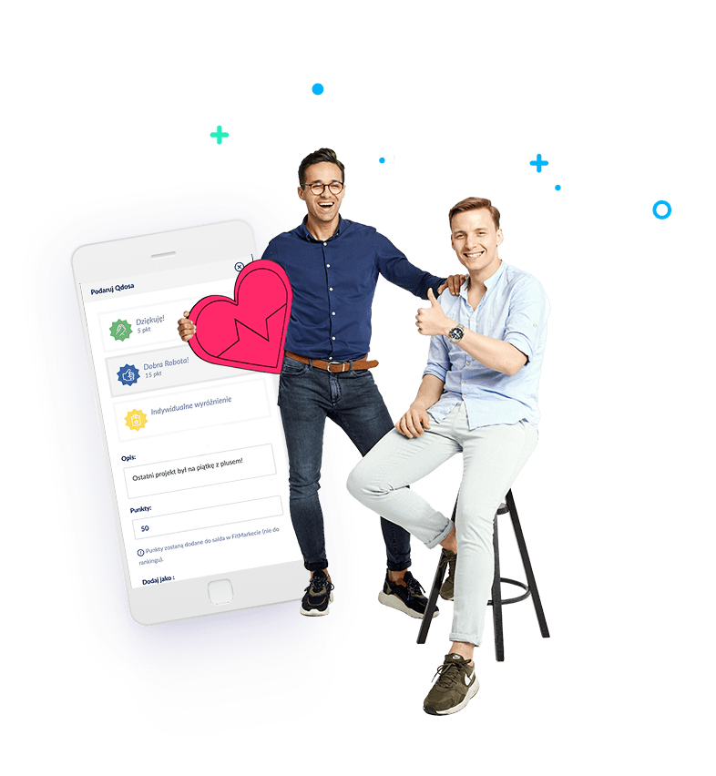screen z telefonu przedstawiający platformę fitqbe