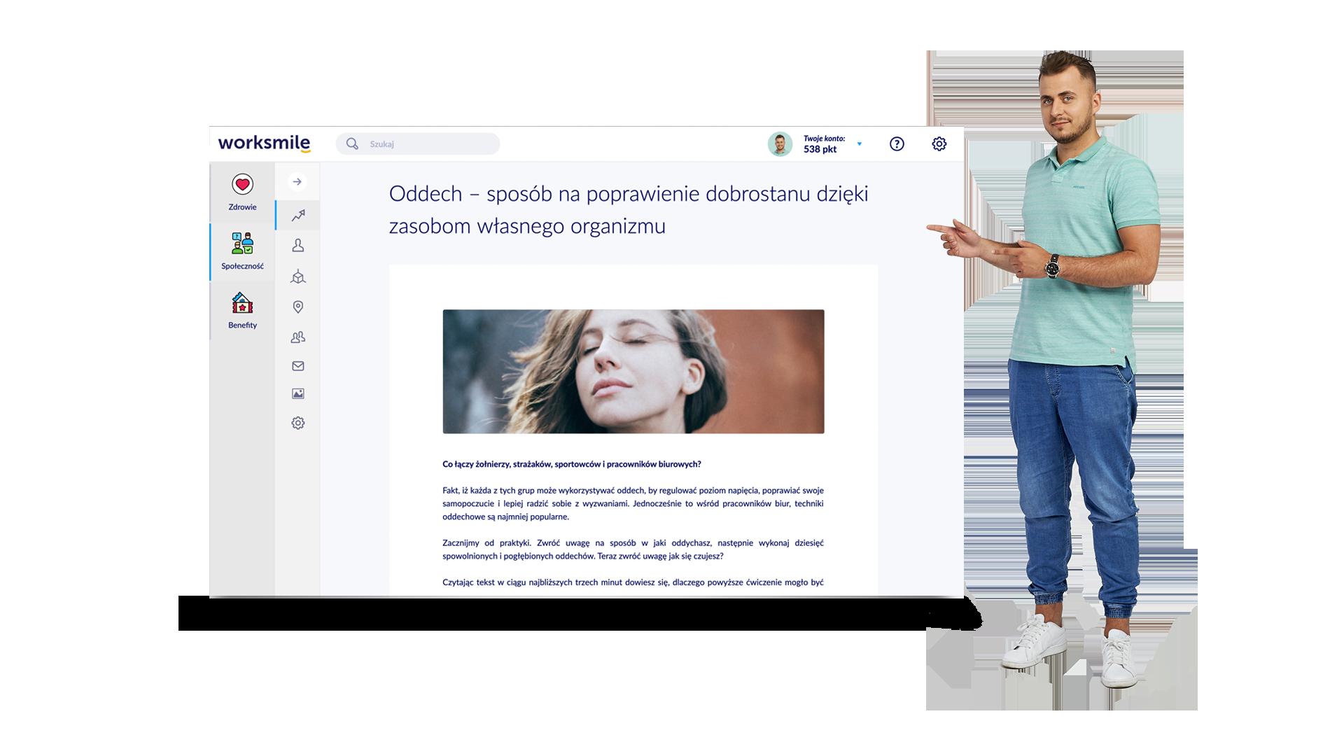 Platforma benefitowa Worksmile - dostęp do artykułów ekspertów