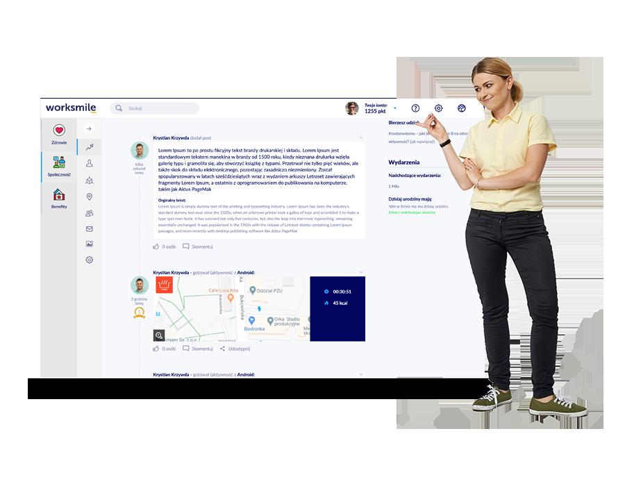 Platforma benefitowa Worksmile oferuje możliwość przetłumaczenia dowolnych treści w komunikacji wewnętrznej w firmie
