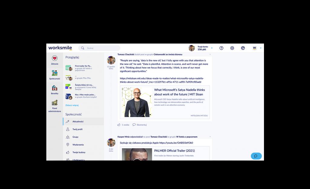 Tablica aktualności Worksmile - Błyskawiczna i skuteczna komunikacja z pracownikami w Twojej firmie