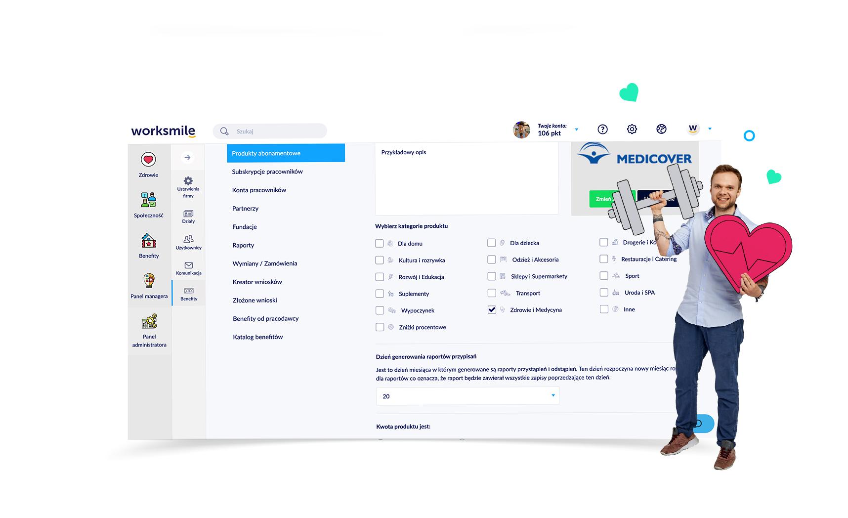 Worksmile - Wszystkie benefity pracownicze w jednym miejscu